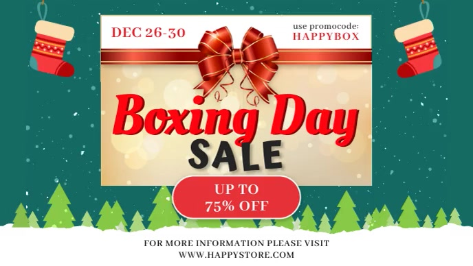 Boxing Day Big Sale Banner Film w tle na Facebooka (16:9) template