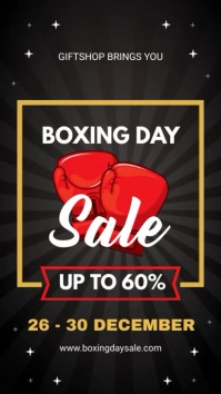 Boxing Day Big Sale Digital Banner Digitale Vertoning (9:16) template