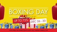 Boxing Day Big Sale Online Banner Facebook-omslagvideo (16:9) template