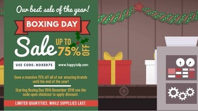Boxing Day Big Sale Video Banner Design