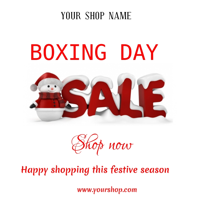 Boxing Day Post Instagram template