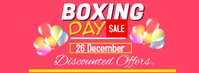 Boxing day รูปภาพหน้าปก Facebook template