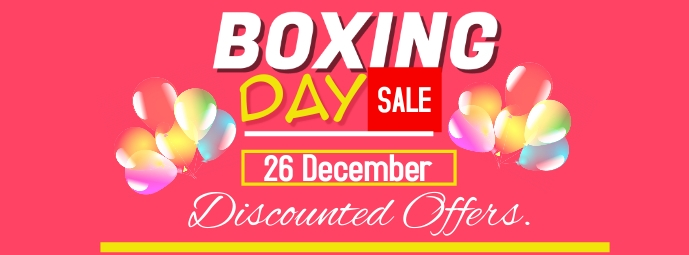 Boxing day Facebook-coverfoto template