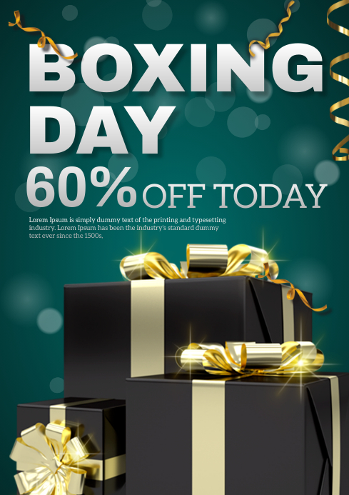 Boxing day A4 template