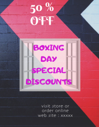 boxing day discount flyer,poster,template,banner