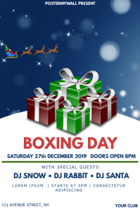 Boxing day event party flyer template