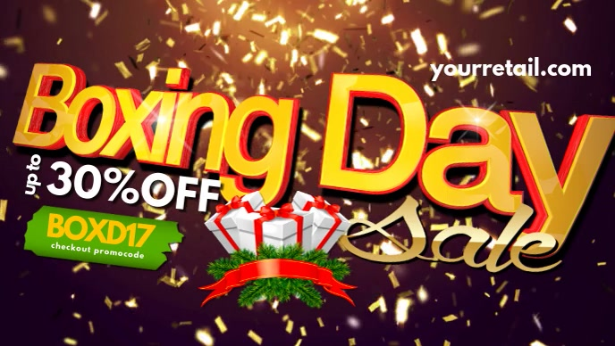boxing day facebook header template postermywall
