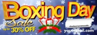 Boxing Day Facebook Header template