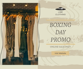 Boxing Day Fashion Sale Online Advert Großes Rechteck template