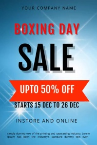 BOXING DAY FLYER TEMPLATE Баннер 4' × 6'