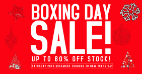 Boxing day flyer Template sale facebook post