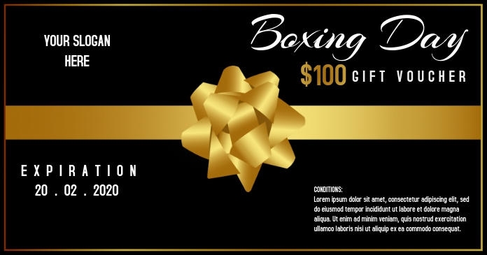 Boxing Day Gift voucher template