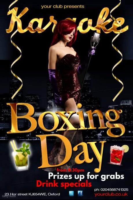 Boxing Day Karaoke โปสเตอร์ template