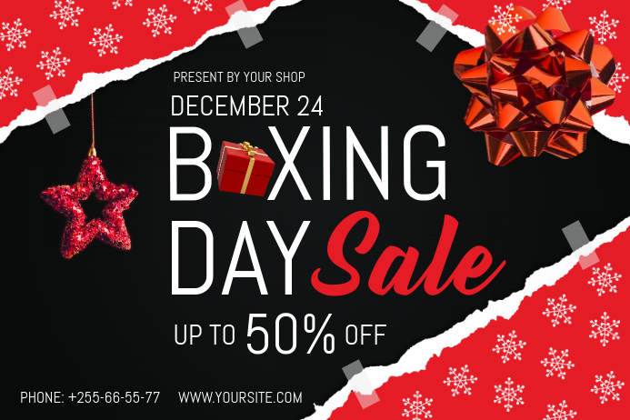 Boxing Day Landscape Poster Plakat template