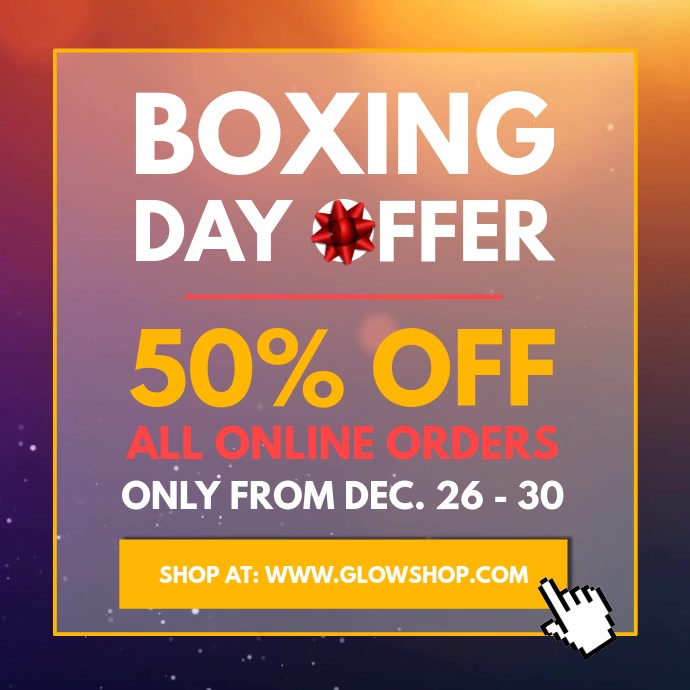 Boxing Day Offer Sale Square Video