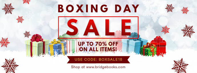Boxing Day Online Promo Sale Banner Facebook-omslagfoto template