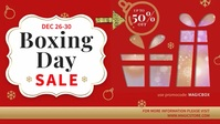 Boxing Day Online Sale Banner Facebook-omslagvideo (16:9) template