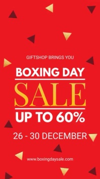 Boxing Day Online Store Sale Digital Display Digitale Vertoning (9:16) template