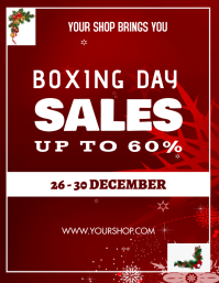 Boxing day poster Flyer (format US Letter) template