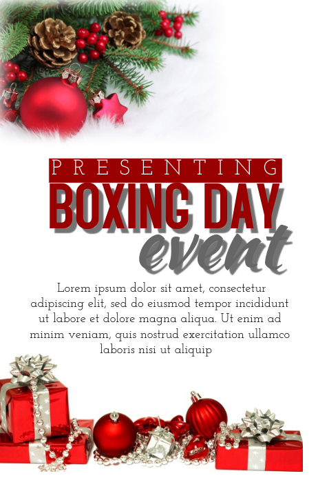 Boxing Day event