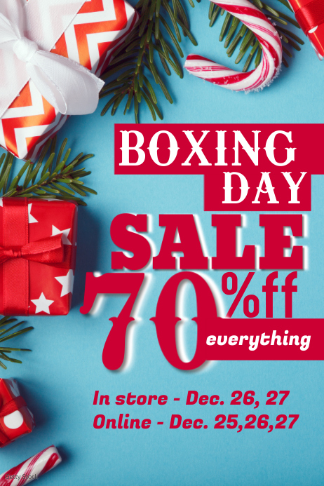 Boxing Day Poster Template Póster