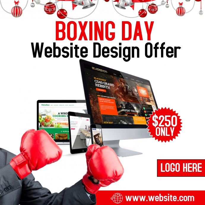 Boxing Day Promo Flyer Persegi (1:1) template