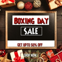 boxing day retail Instagram Post template