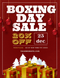 Boxing Day Retail Flyer Template