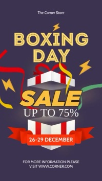 Boxing Day Roll Up Banner Instagram-verhaal template