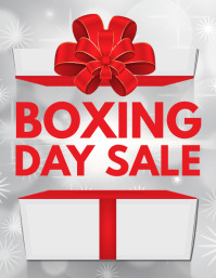 boxing day sale, boxing day retail Flyer (US Letter) template