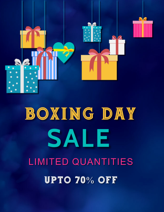 Boxing day sale,Christmas, event Ulotka (US Letter) template