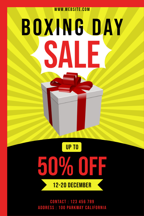 BOXING DAY SALE 006 Poster template