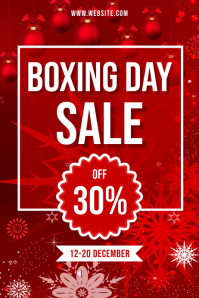 BOXING DAY SALE 018 Poster template
