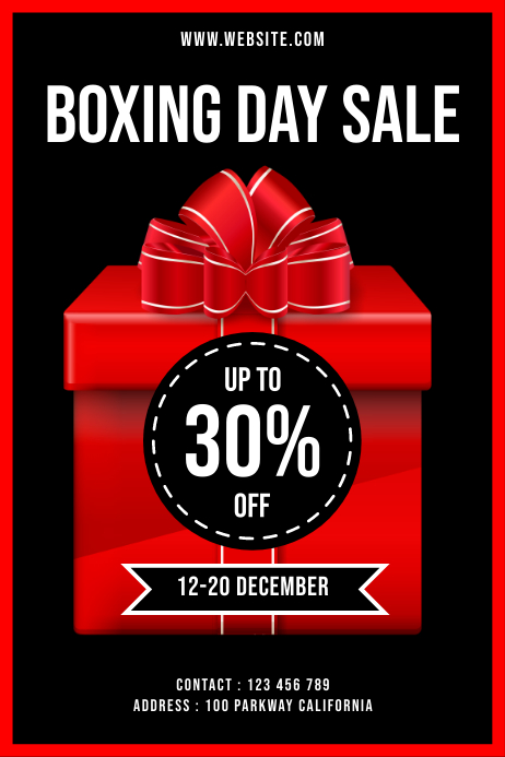 BOXING DAY SALE 031 Poster template