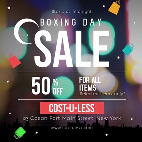 Boxing Day Sale Ad Square Video