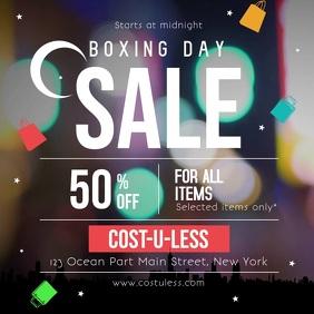 Boxing Day Sale Ad Square Video