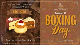 Boxing Day Sale Bakery Digital Display Video Umbukiso Wedijithali (16:9) template