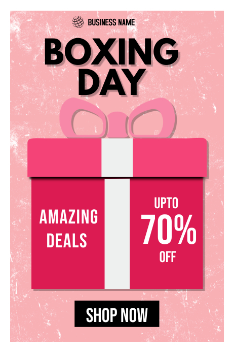 BOXING DAY SALE banner template