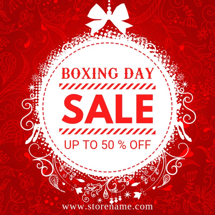 Boxing day sale Сообщение Instagram template