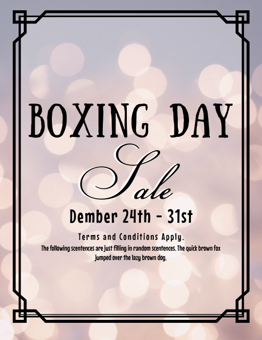Boxing Day Sale Flyer (US Letter) template