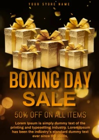 Boxing day sale A4 template
