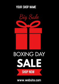 boxing day sale A3 template