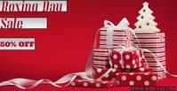 Boxing Day Sale Couverture d'événement Facebook template