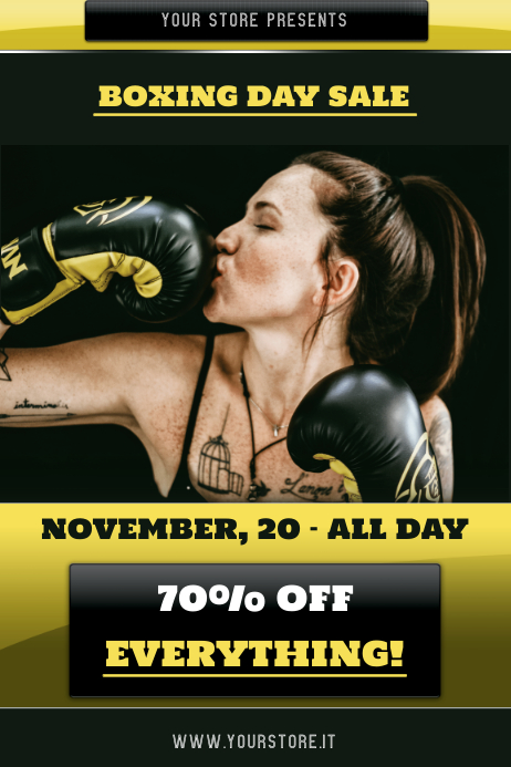 Boxing day sale Póster template