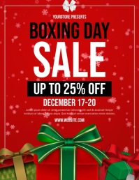Boxing Day Sale Flyer (Letter pang-US) template