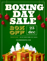 Boxing Day Sale Folder (US Letter) template