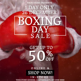Boxing Day Sale Event Flyer Template