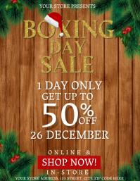 Boxing Day Sale Event Flyer Template Folder (US Letter)