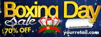 Boxing Day Sale Facebook Header template