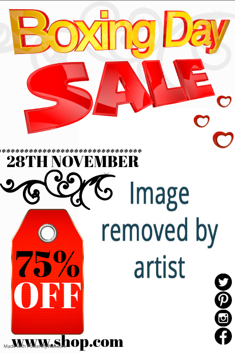 Boxing Day Sale Flyer